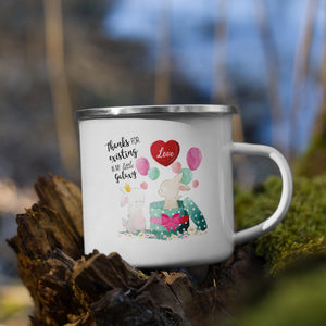 Thanks Bunnys | Emaille Tasse