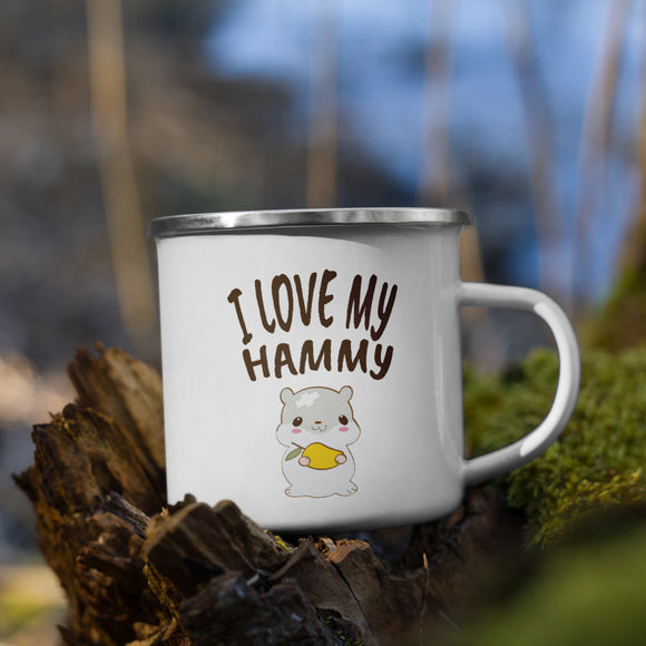 I Love My Hammy | Emaille Tasse