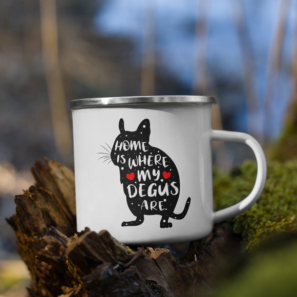 Home Is Where My Degus Are | Emaille Tasse
