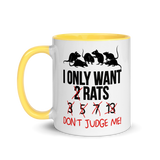 I Only Want 2 Rats | Zweifarbige Tasse