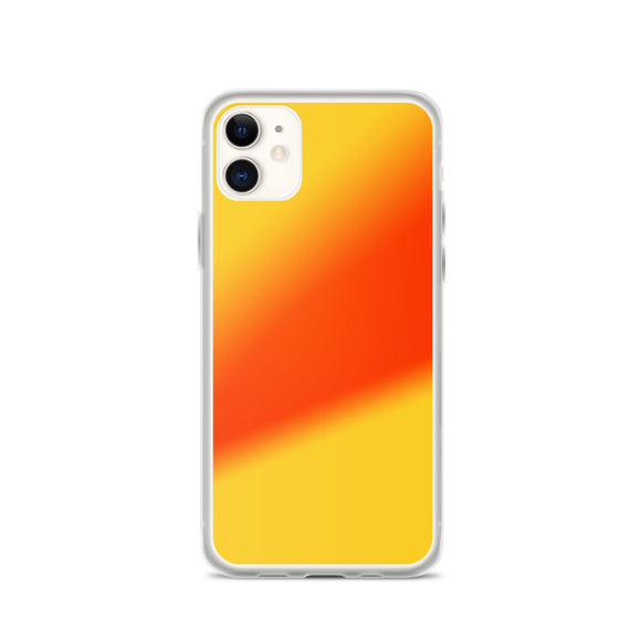 Zeigt Produktbild  iPhone Case | Beautiful Yellow Orange Gradient Art | Smartphone Protection Case | Gift for her | Back Cover for you Mobile | Abstract