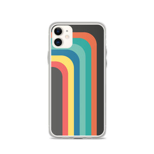 Zeigt Produktbild  Vintage & Retro 70s Style | Color Stripes | iPhone Case | Gift For Retro and Vintage Fans | Smartphone Protection | Version III