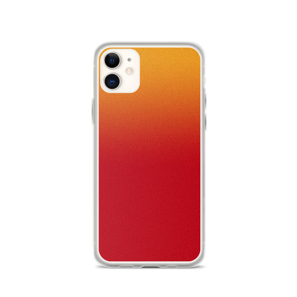 Zeigt Produktbild  iPhone Case | Abstract Pattern Smartphone Protection Case | Gift for her | Back Cover for you Mobile | Beautiful Red Orange Gradient Art