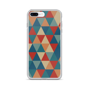 Zeigt Produktbild  VINTAGE Style | Color Triangles | iPhone Case | Gift For Retro and Vintage Fans