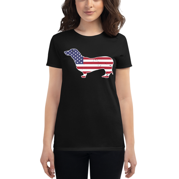 Dackel USA | Frauen T-Shirt
