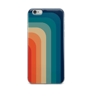 Zeigt Produktbild  Vintage & Retro 70s Style | Color Stripes | iPhone Case | Gift For Retro and Vintage Fans | Smartphone Protection