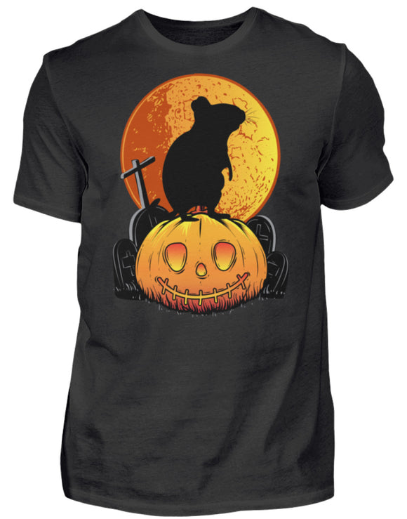 Degus Halloween | Kürbis Vollmond | Herren Shirt in Black in Größe S