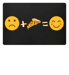 Funny Pizza Emotions | Fußmatte in Black in Größe 60x40cm