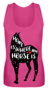 Funny Adorable Horse Saying | Frauen Tank Top in Pinky in Größe S