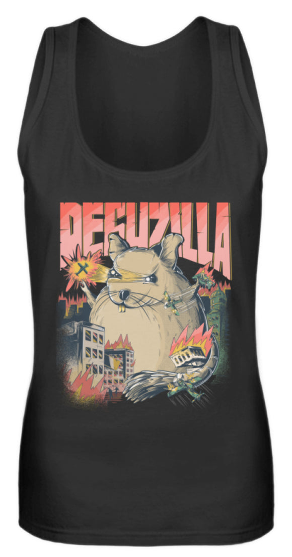 DEGUZILLA | Lustiges Degu-Monster | Frauen Tank Top in Black in Größe S
