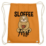 Zeigt sloffee first for sloth and coffee fan baumwoll gymsac in Farbe Hellrot