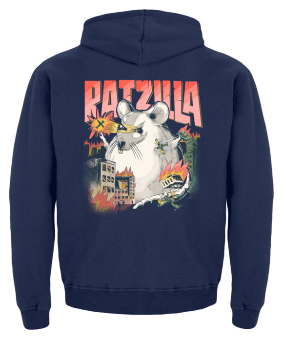 RATZILLA | Lustiges RATTEN-Monster | Kinder Hoodie in Jet Black in Größe 12/14 (152/164)