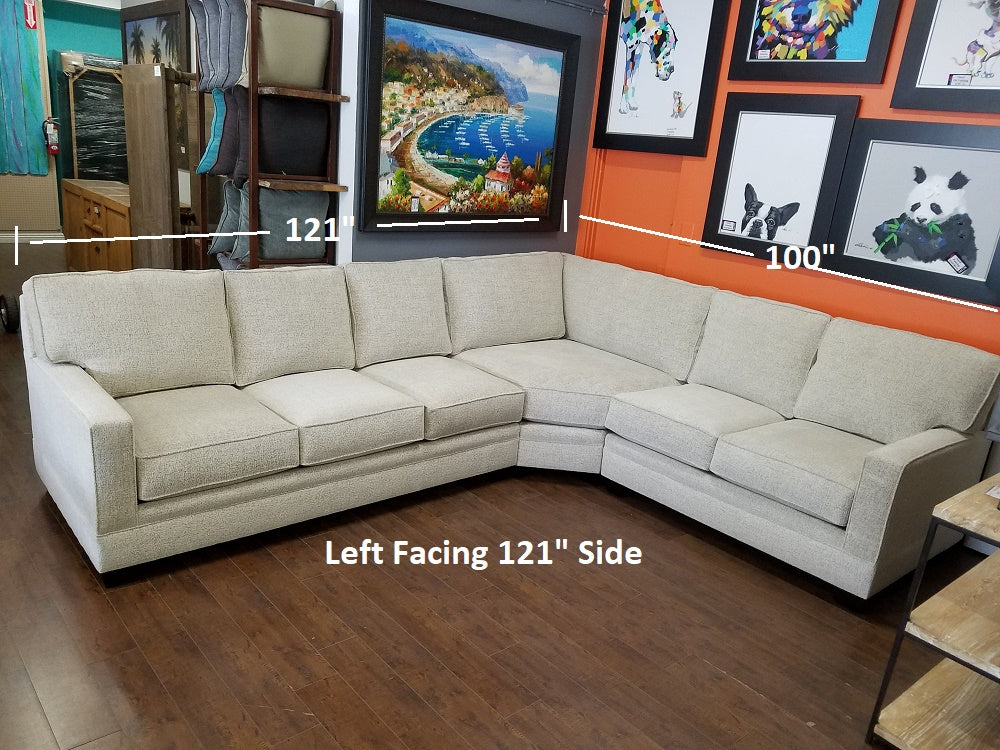 "Loft 3PC Sectional 121"" x 100"""
