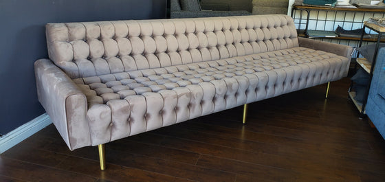 Floor Sample Magnolia Velvet Tufted Sofa 104""