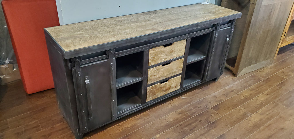 Iron Wood TV Console 68""