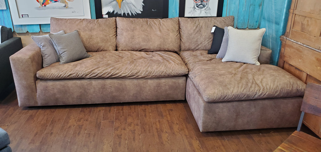 "Clearance Sale- 123"" Urban Cloud 2pc Sectional"
