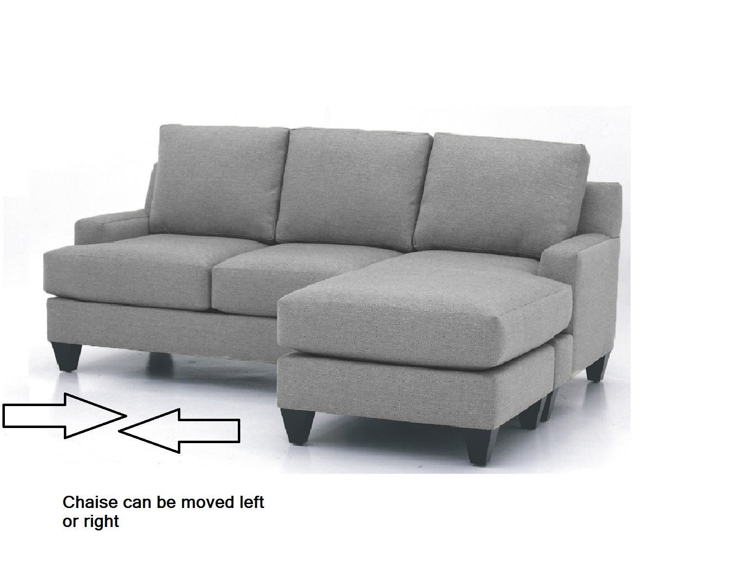 Gesture Reversible Chaise Sofa  sc 1 st  URBAN FUSION Decor : sofa with reversible chaise lounge - Sectionals, Sofas & Couches