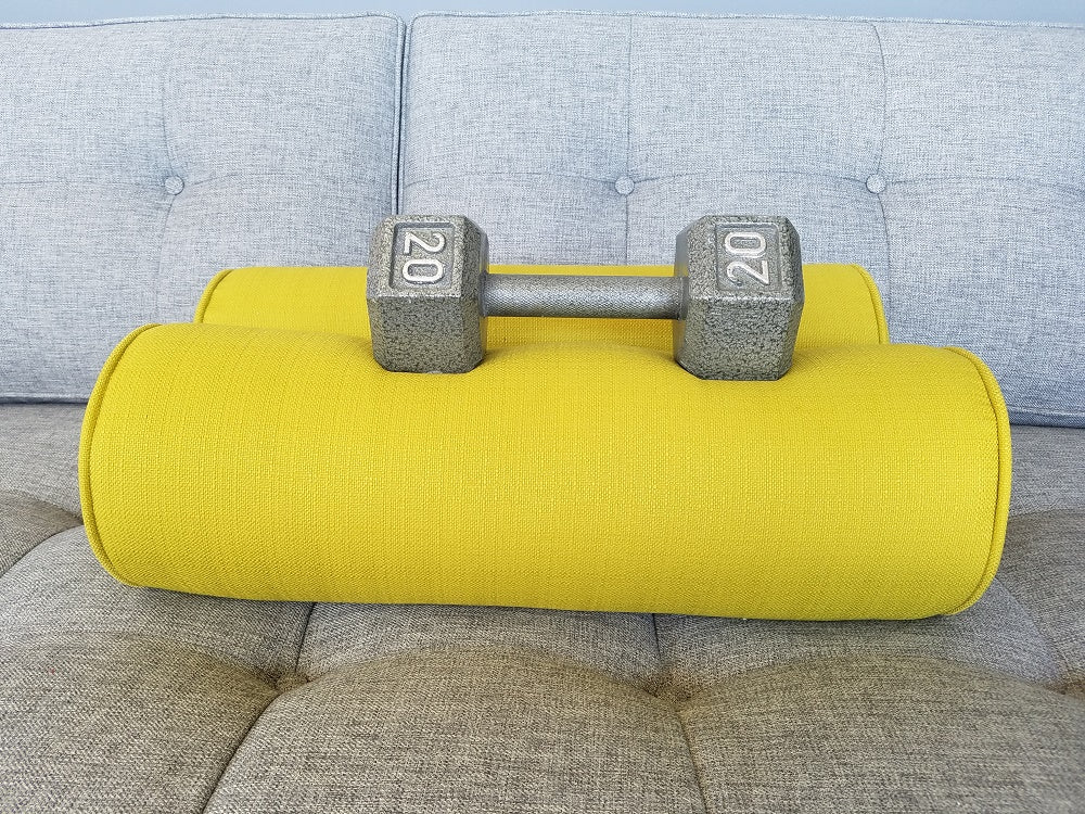 Set of 2- Bolster Cylinder Pillows- Misty Fabrics- Choose a color