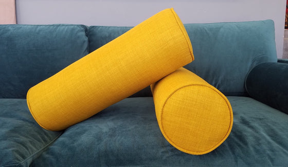 Set of 2 - Cylinder Bolster Pillows - Pauline Fabrics- Choose a color
