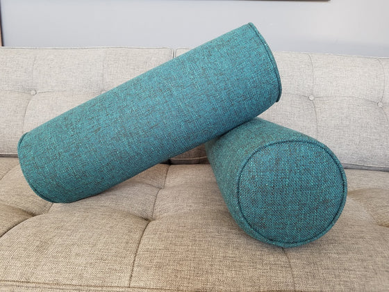 Set of 2- Cylinder Bolster Pillows- Notion Hypnotic