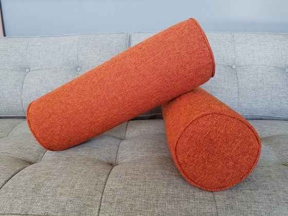 Set of 2- Cylinder Bolster Pillows- Notion Tang