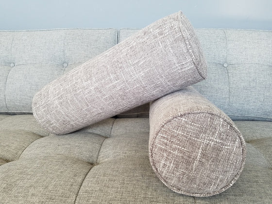 Set of 2 Cylinder Bolster Pillows- Zareen Fabrics- Choose a color