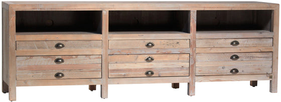 "KIngsley TV Stand 81""w x 18""d x 23""h"