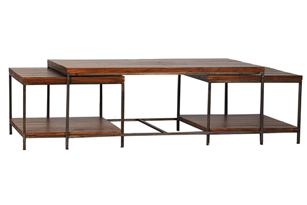 "Devlin Coffee Table with 2 End Tables 48""w x 28""d x 19""H"