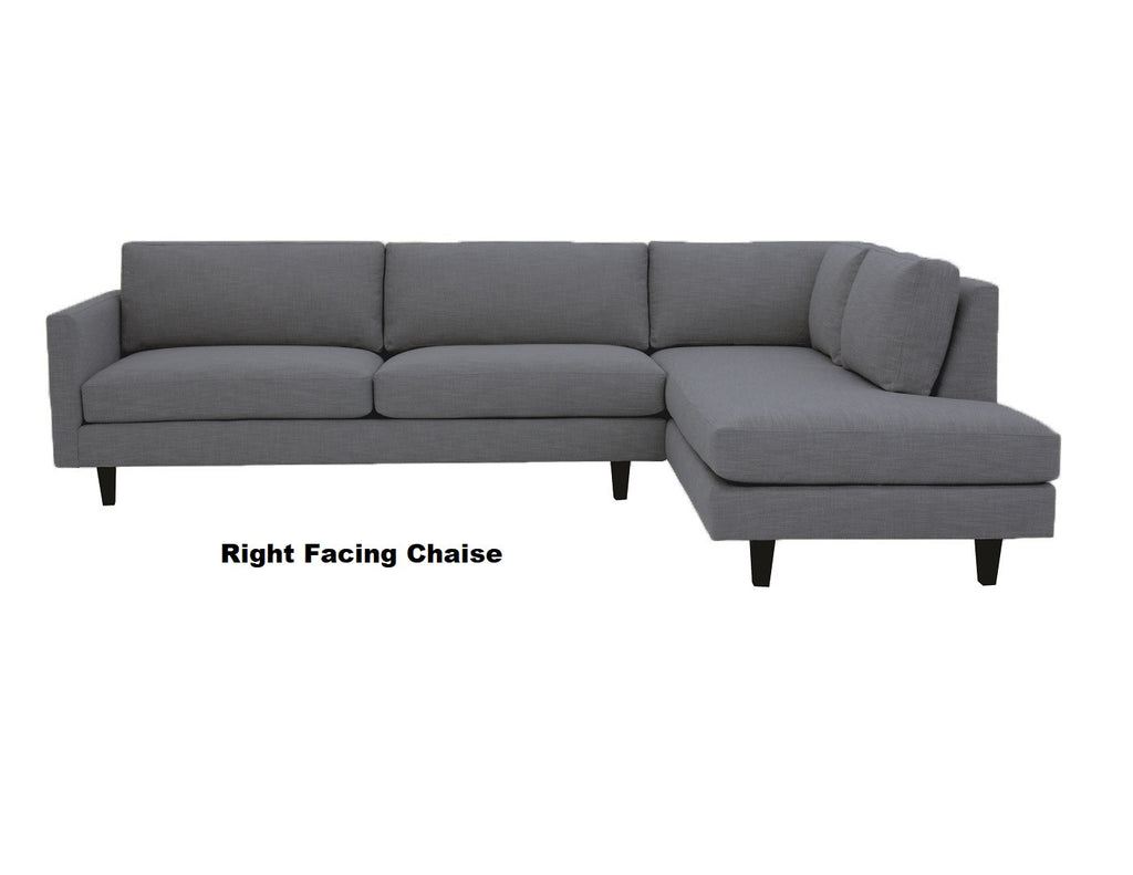 "Promo MidMod Sectional 119"" x 88"""