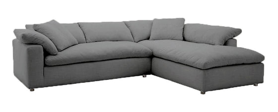 "Urban Cloud 2pc Sectional 129""W x 96""L"