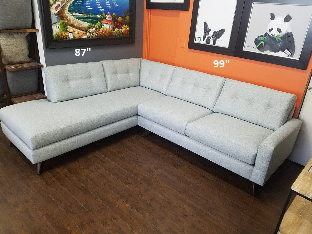 "99"" Venice Sectional w/Bumper Chaise"