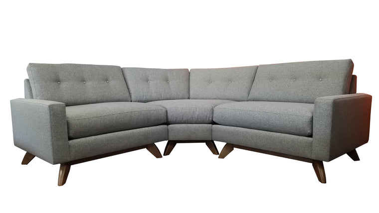 "Venice Curved 3 PC Sectional 86"" x 86"""