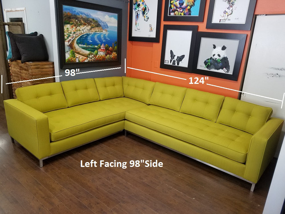 "Nixon 2pc Sectional 98"" x 124"""