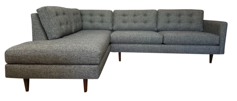 "San Diego 2pc Sectional w/Bumper Chaise 111"" x 88"""