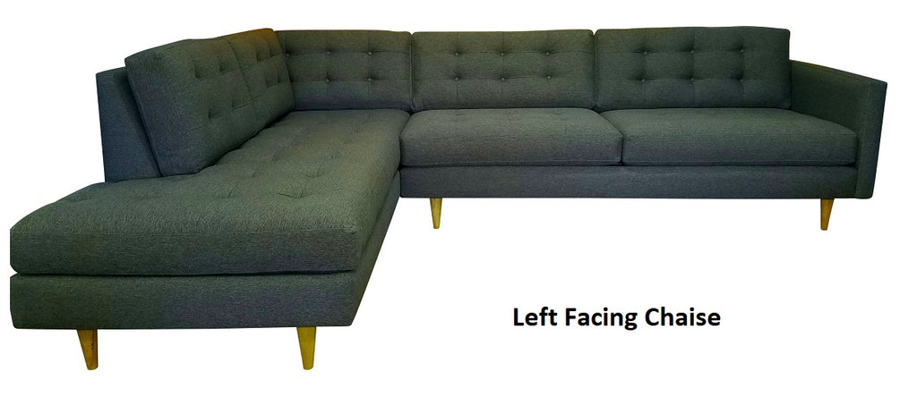 "San Diego 2pc Sectional w/Bumper Chaise 119"" x 88"""