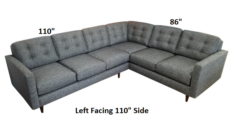 "Elmwood 2PC Sectional 110"" x 86"""