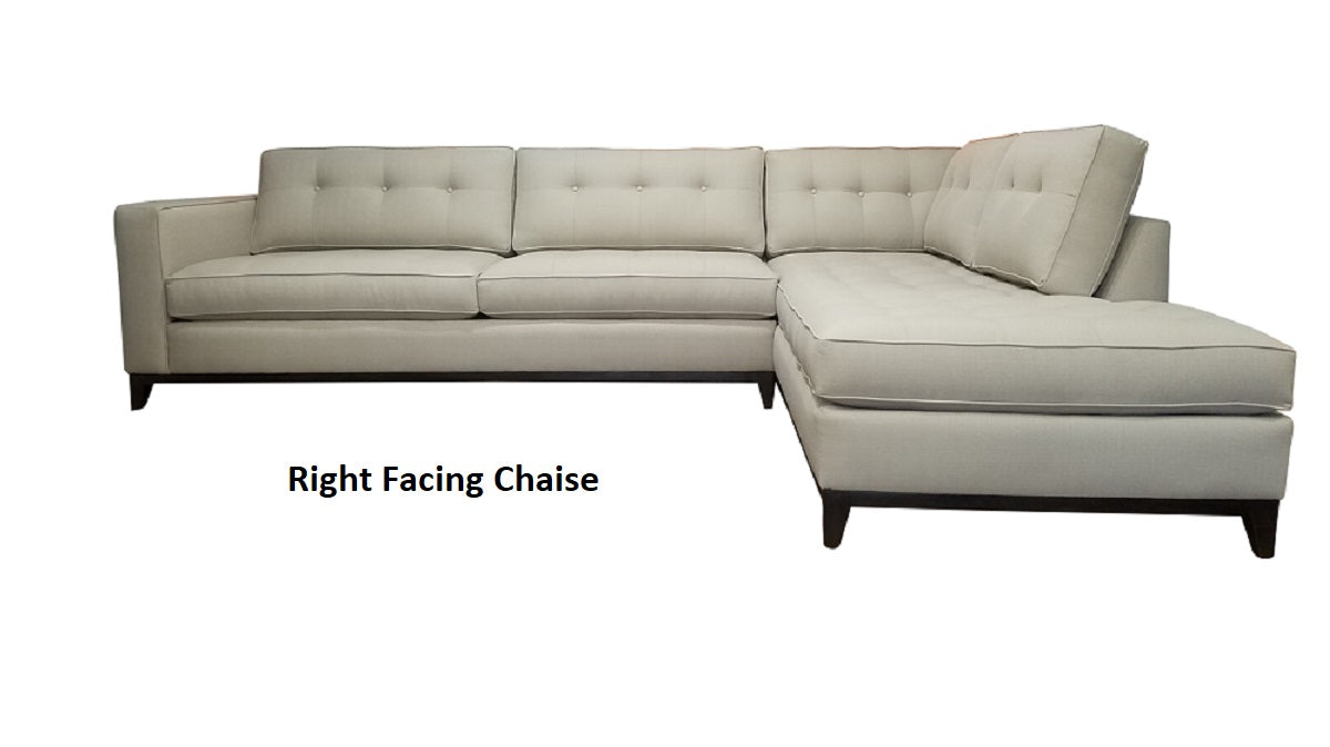 Fantastic Nixon 2Pc Sectional W Bumper Chaise And Wood Base 122 X 88 Beatyapartments Chair Design Images Beatyapartmentscom