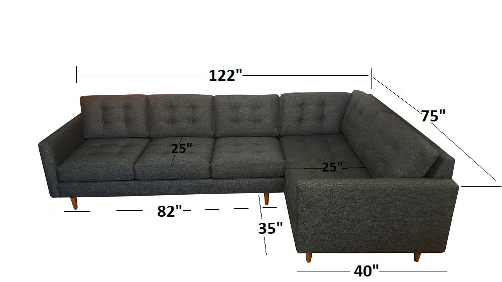 "San Diego 2PC Sectional 122"" x 75"""