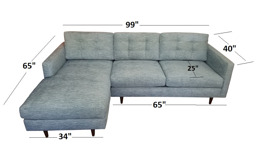 "99"" 2PC San Diego Sectional"
