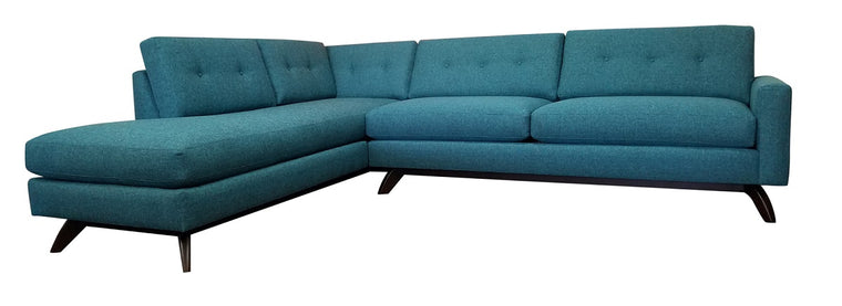 "Venice 2pc Sectional w/Bumper Chaise 110"" x 87"""