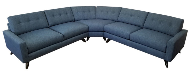 "Venice Curved 3 PC Sectional 112"" x 112"""