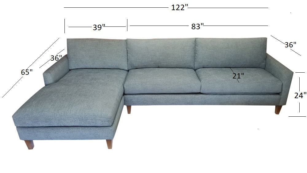 "122"" Verona 2PC Sectional"