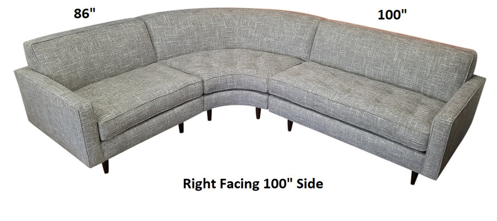 "Hollywood 86"" x 100"" 3PC  Sectional"