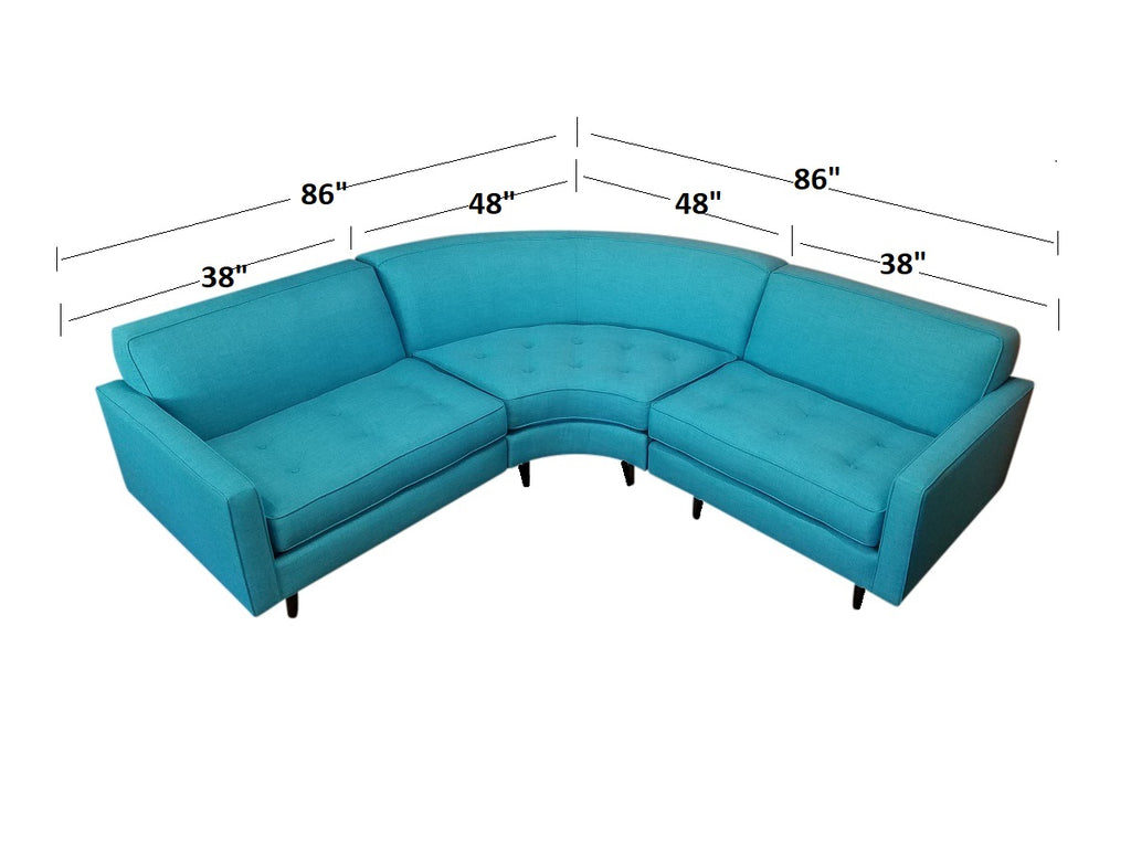 "Hollywood 3PC Sectional 86"" x 86"""