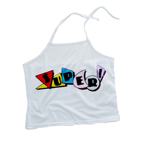 SUPER 90's sticker Halter