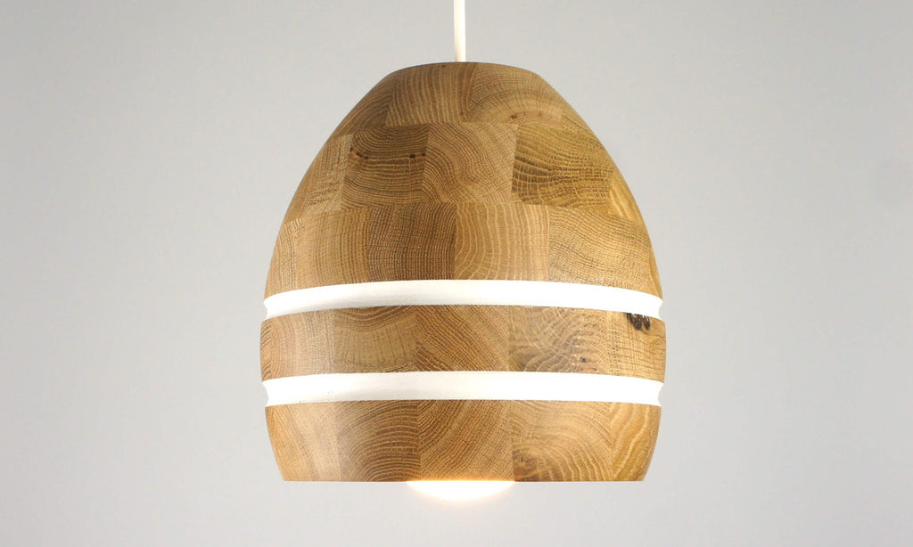 Wooden ceiling pendant lamp. Wooden pendant lamp. Contemporary wooden pendant light.
