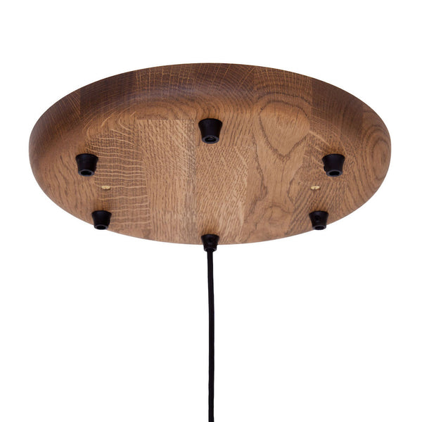 6 position wooden ceiling fitting dark Oak wood