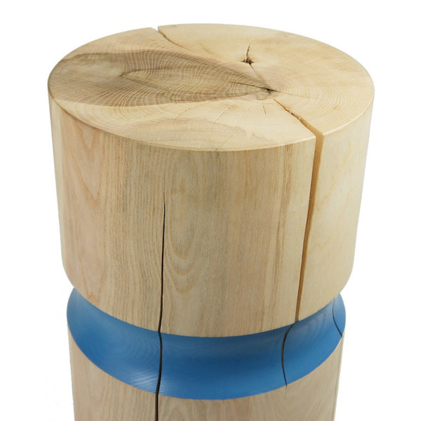 Ash Blue Stool / Side Table