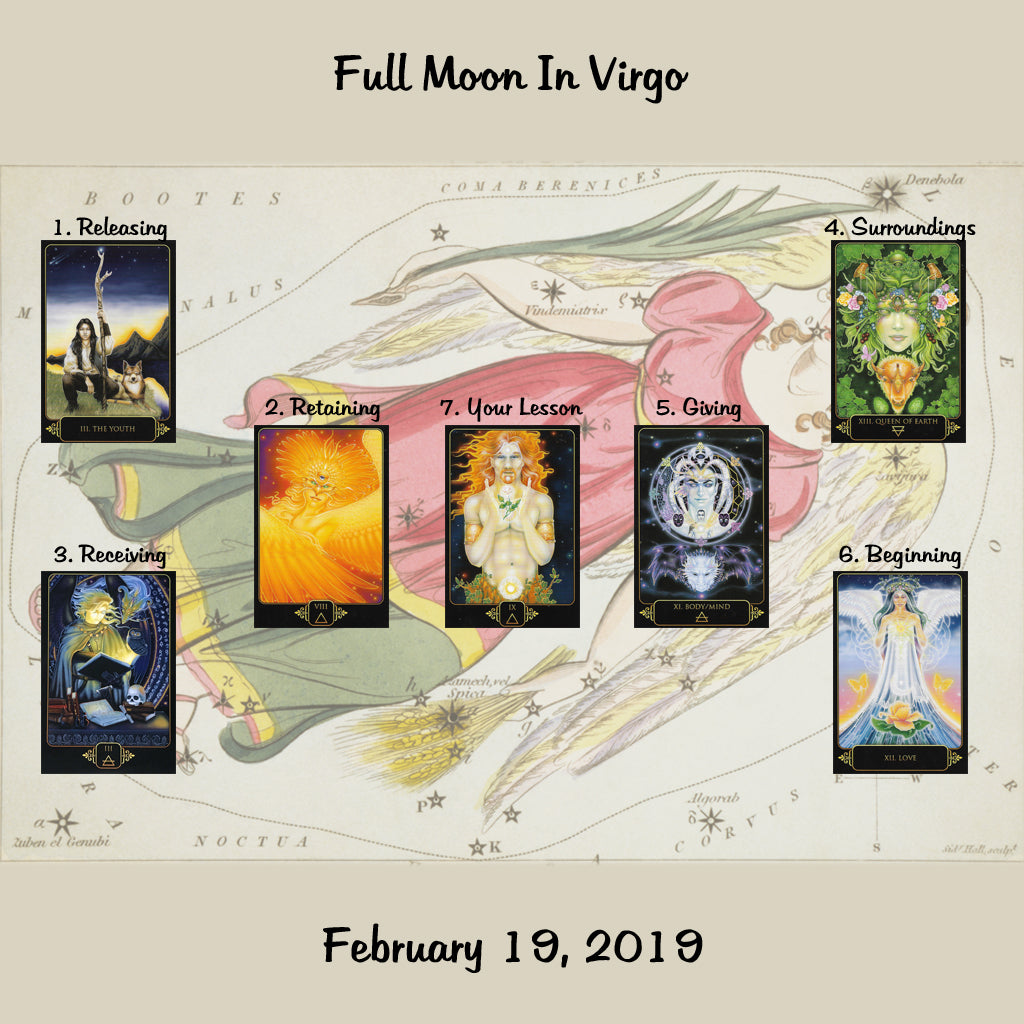 Full Moon Tarot Spread - February 2019