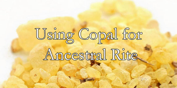 Using Copal for Ancestral Rite